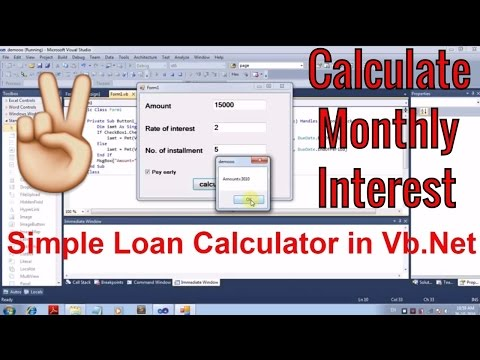 How to create simple loan calculator in Visual studio [beginners]