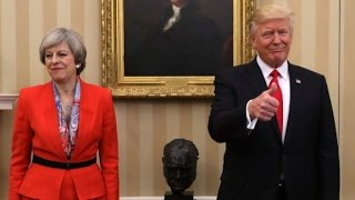 Disagreements on Russia emerge in Trump, May visit