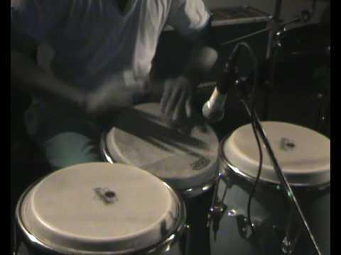 Marcus Gio-Fuertisimo and Marlon Conradus drummer Combo. April 2009