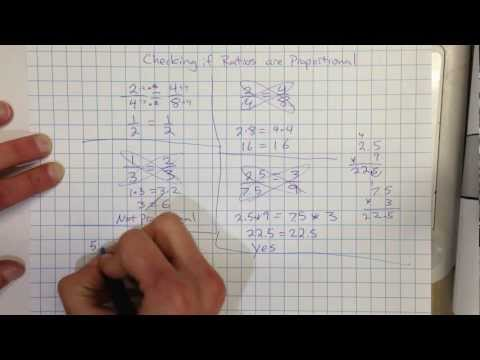 Checking if ratios are proportional by Cross Multiplying