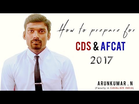 How to Prepare for CDS & AFCAT || SSB Tips by Arunkumar.N
