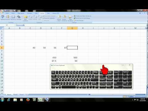Microsoft excel shortcut: sum, multiply, percentage & divided (3 of 5)