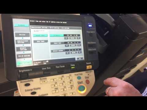 Konica Minolta: How to Update IP Address (C220/283 Series)