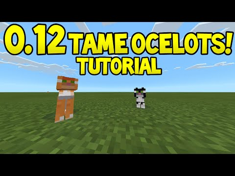 Minecraft Pocket Edition - 0.12.1 Update! - How to Tame Ocelots - Tutorial