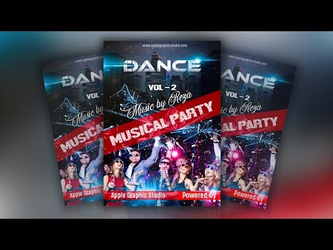 How to Create a Party Flyer - Photoshop Tutorial