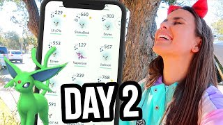 SHOULD I EVOLVE? SHINY EEVEE COMMUNITY DAY 2 | Pokémon GO Vlog | ZoeTwoDots #PokemonGO