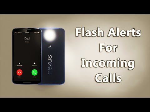 How To Activate Android Camera Flash As Incoming Call Notification