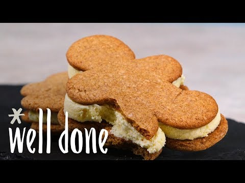 How to Make Gingerbread Eggnog Ice Cream Sandwiches | Recipe | Well Done