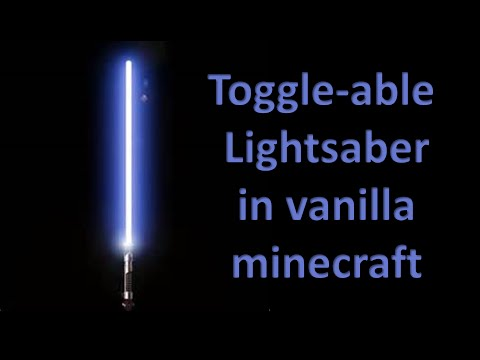 Lightsaber in vanilla minecraft (command item swapper)