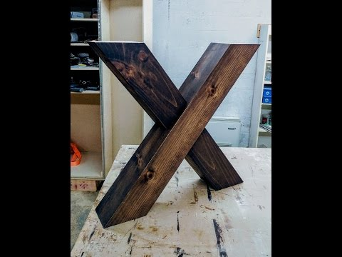 X shaped farm table legs