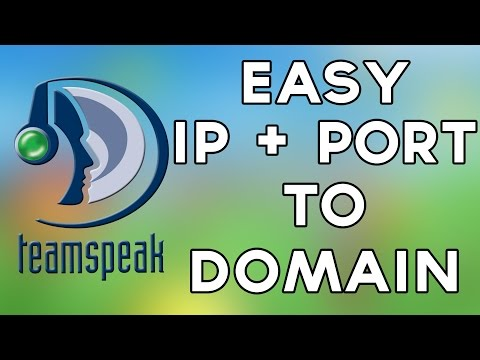 Teamspeak IP Address and Port to Domain Tutorial