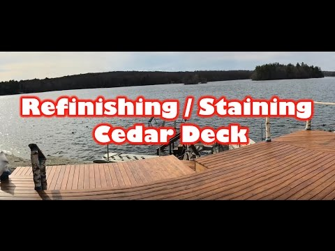 Refinishing / Staining a Cedar Deck