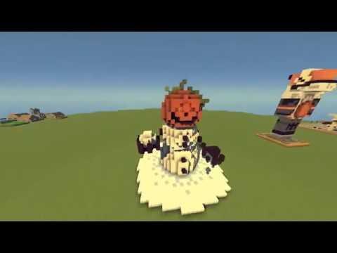 Minecraft Timelapse | Realistic Snow Golem statue!