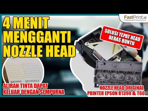 4 Menit Mengganti Nozzle Head Printer Epson R1390 & T60 | Solusi Tepat Head Bebas Buntu