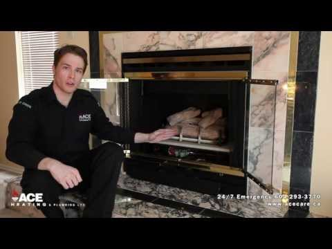 Turning on Pilot Light on fireplace | No Heat Trouble Shooting | Pro Ace Heating & Air Conditioning