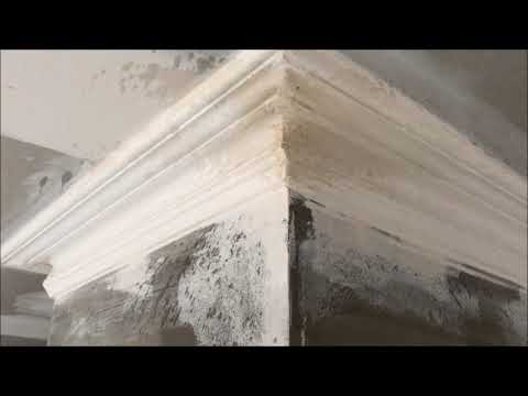 Movie Doing the mitres on  a small Victorian plaster cornice