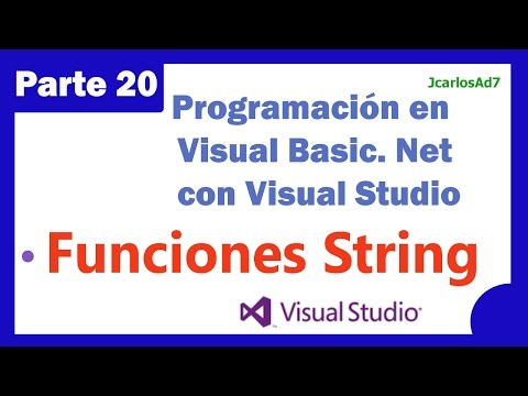 Funciones con cadenas String (20-25) Programación en Visual Basic Net con Visual Studio 2013