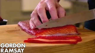 Beetroot Cured Salmon | Gordon Ramsay