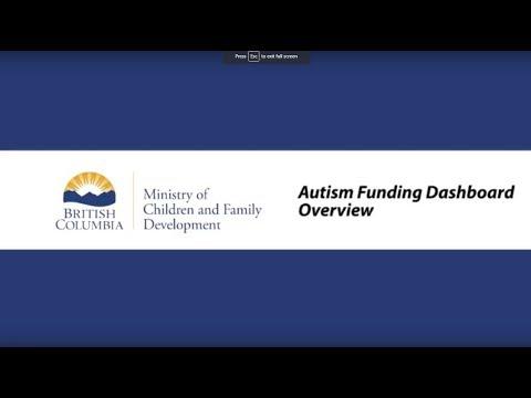 Autism Funding Program Dashboard