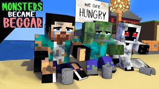 Monster School Became BEGGAR - Funny Minecraft Animation