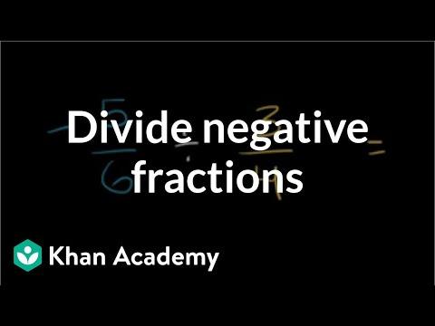 Dividing negative fractions | Fractions | Pre-Algebra | Khan Academy