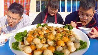 """3斤土豆,陕北特色""""洋芋沫沫"""",劲道爽滑,一上桌全家抢着吃!【陕北霞姐】"""