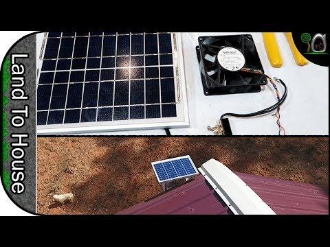 Solar Powered Attic Fan - Build a Workshop #57