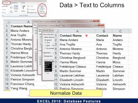 Excel 2010-Database Features