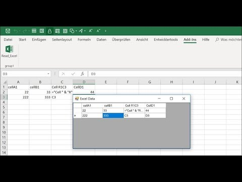 Read Excel Cells Value to DataGridView in C# Addin VSTO Example Code