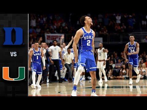 Duke vs. Miami Basketball Highlights (2017-18)