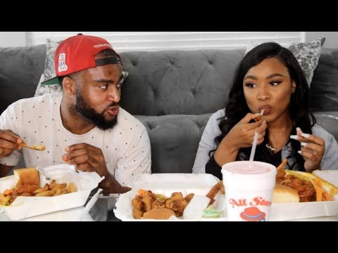 HOTWINGS MUKBANG WITH MY BOYFRIEND   Kathryn Bedell