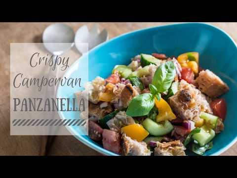 Cripsy Panzanella Tuscan Bread Salad ~ Campervan Recipes