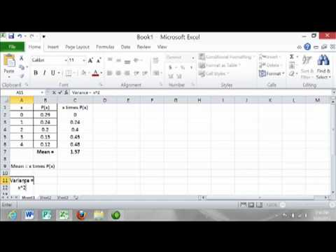 The Mean and Standard Deviation of a Probability Distribution using Excel