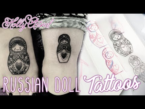 RUSSIAN DOLLS. Holly Astral Real Time Drawing and Tattoo video