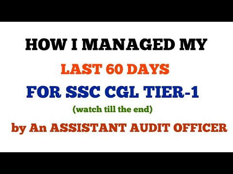 LAST 60 DAYS PLAN WITH TIME TABLE & TIME MANAGEMENT FOR SSC CGL 2018