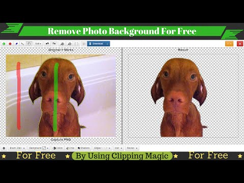 How To Remove Photo Background For Free!!! Using Clipping Magic
