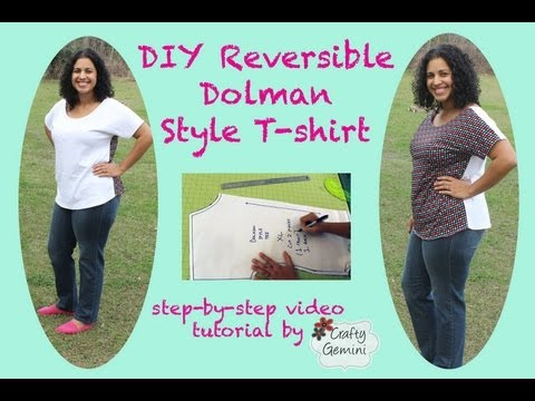 DIY Dolman Style T-shirt: Beginner Project & Giveaway