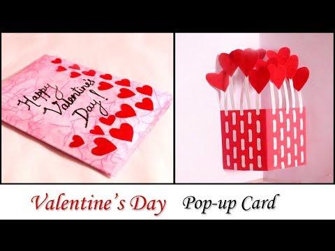 DIY Valentine Card | Handmade Pop Up Card for Valentine's Day