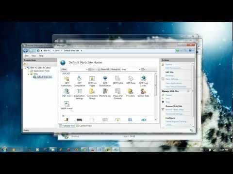 stop the iis server in windows 7