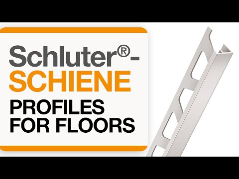 How to install a tile transition on floors: Schluter®-SCHIENE