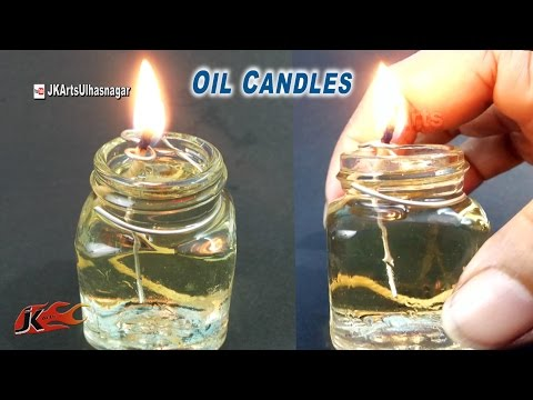 How to make small oil candles | JK Arts 927