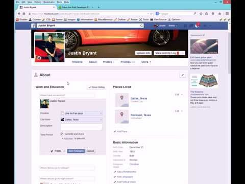 How To Add Your Facebook Fan Page To Profile Work And Education