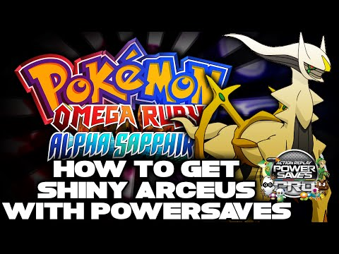 POWERSAVES UPDATE: SHINY ARCEUS EVENT AVAILABLE!!! - Pokemon Omega Ruby & Alpha Sapphire