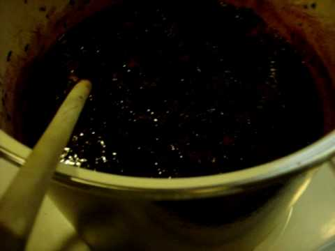 Making  Seedless Black Berry Jam Step 1 cooking the berries