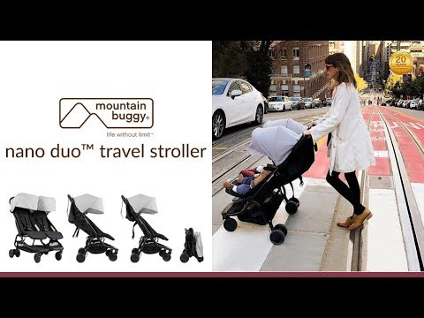 Mountain Buggy Nano Duo Stroller Store Demo - Direct2Mum