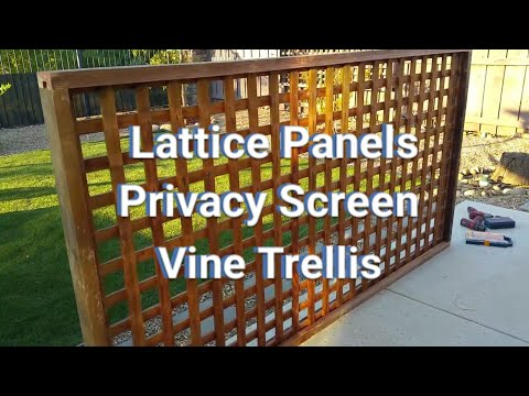 How to Make Lattice Panels - Privacy Screens - Vine Trellis