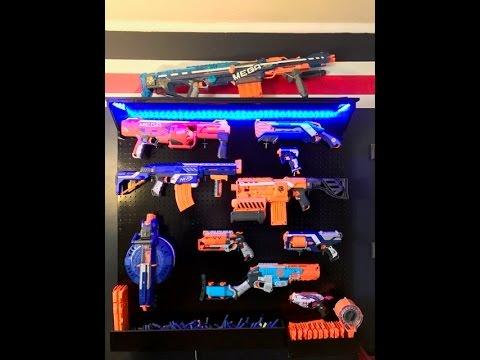 How to make a Nerf gun rack