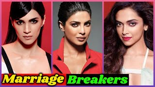 10 Bollywood Actresses who are Marriage Breakers