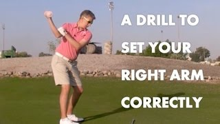 Golf Drill - The Correct Right Arm / Shoulder Movement