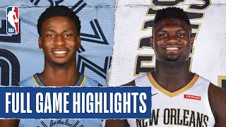 GRIZZLIES at PELICANS | FULL GAME HIGHLIGHTS | August 3, 2020